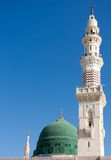 Tower of the Nabawi mosque againts blue sky Royalty Free Stock Photography