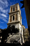 Tower in  naples and the bell Royalty Free Stock Images