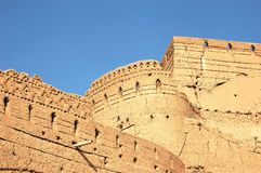 Tower of the Narin Qal`eh , Meybod, Iran. Stock Photo