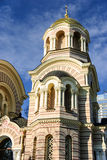 Tower of the Nativity of Christ Orthodox Cathedral, Riga, Latvia Royalty Free Stock Photography