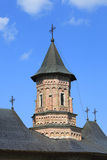 Tower of Neamt Monastery,Moldavia,Romania. Close-up image of the tower of Neamt Monastery,Moldavia,Romania.It is a Romanian Orthodox religious settlement, one of Royalty Free Stock Photography