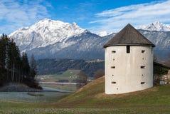 Tower near the Austrian Alps Stock Photography