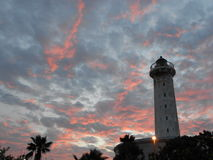 Tower. A tower near beach in evening with sunset light Stock Photography