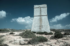 Tower near Golden bay, Malta Stock Photography