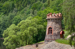 Tower with battlements Stock Photos