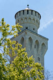 Tower at Neuschwanstein castle Royalty Free Stock Photo