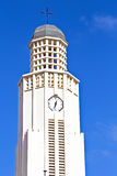 Tower from the new protestant church Aruba Stock Photo