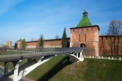 Tower of Nicholas Tower in Nizhny Novgorod Kremlin Stock Photo