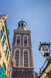 Tower Nieuwe Toren in the historical city Kampen Stock Image