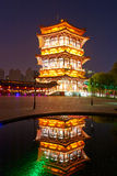 The tower night xian Stock Images