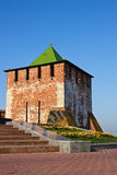 Tower of Nizhny Novgorod kremlin Stock Photos