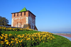 Tower of Nizhny Novgorod kremlin Royalty Free Stock Image