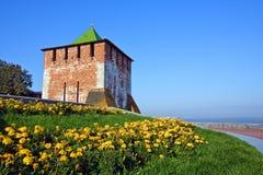 Tower of Nizhny Novgorod kremlin. Russia Royalty Free Stock Image