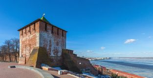 Tower of Nizhny Novgorod Kremlin Stock Images