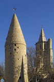 Tower and Notredame des Miracle, Avignonet-Lauragais, Midi Pyren Stock Image