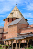 Tower in the Novgorod fortress. Metropolitan Tower in the Novgorod fortress Stock Image