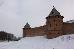 Tower of the Novgorod Kremlin, Historic Monuments of Novgorod and Surroundings,Russia Royalty Free Stock Photos