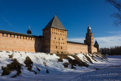Tower of the Novgorod Kremlin, Historic Monuments of Novgorod and Surroundings,Russia. Tower of the Novgorod Kremlin, Historic Monuments of Novgorod and Royalty Free Stock Images