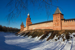 Tower of the Novgorod Kremlin, Historic Monuments of Novgorod and Surroundings,Russia. Tower of the Novgorod Kremlin, Historic Monuments of Novgorod and Stock Photos