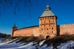 Tower of the Novgorod Kremlin, Historic Monuments of Novgorod and Surroundings,Russia. Tower of the Novgorod Kremlin, Historic Monuments of Novgorod and Stock Images