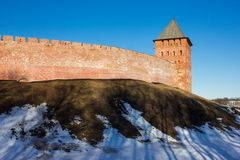 Tower of the Novgorod Kremlin, Historic Monuments of Novgorod and Surroundings,Russia. Tower of the Novgorod Kremlin, Historic Monuments of Novgorod and Royalty Free Stock Photo