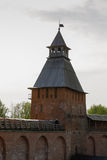 Tower of the Novgorod Kremlin, Historic Monuments of Novgorod and Surroundings,Russia. Tower of the Novgorod Kremlin, Historic Monuments of Novgorod and Stock Image