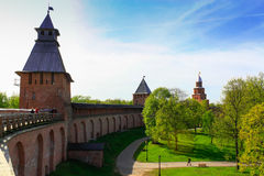Tower of the Novgorod Kremlin, Historic Monuments of Novgorod and Surroundings,Russia Royalty Free Stock Images