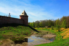 Tower of the Novgorod Kremlin, Historic Monuments of Novgorod and Surroundings,Russia. Tower of the Novgorod Kremlin, Historic Monuments of Novgorod and Stock Photo