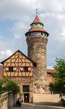 A tower in Nuremberg Castle - Germany Royalty Free Stock Photography