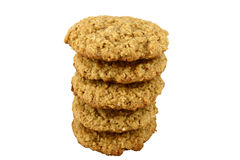 Tower of Oatmeal Cookies Royalty Free Stock Photo