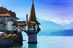 Tower of Oberhofen castle Royalty Free Stock Photos
