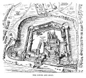 Tower Of London Engraving Royalty Free Stock Photo