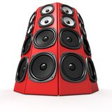 Tower Of Sound Boxes Royalty Free Stock Photo