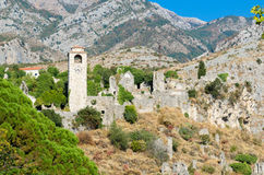 Tower at the old Bar, Montenegro Stock Images
