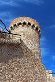 Tower of old castle in Tossa de Mar Royalty Free Stock Images