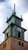 Tower of an old church Royalty Free Stock Image