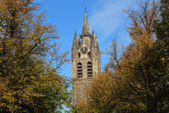 Tower of the Old Church of Delft, Holland Stock Photo