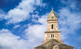 Tower of the old church of Densus Stock Photography