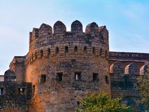 The tower of the old city at sunset, Baku Stock Image