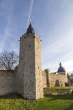 Tower of old city wall in Muehlheim. Under blue sky Royalty Free Stock Photos