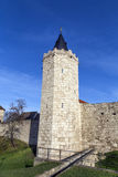 Tower of old city wall in Muehlheim. Under blue sky Stock Photography
