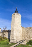 Tower of old city wall in Muehlheim Stock Photo