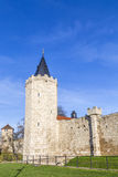 Tower of old city wall in Muehlheim. Under blue sky Stock Image