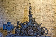 Tower old clock parts Royalty Free Stock Photography