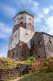 Tower in the old medieval castle in Vyborg, Russia Stock Image