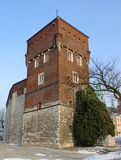 The tower of old Royal Wawel Castle Stock Photo