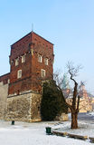 The tower of old Royal Wawel Castle Royalty Free Stock Photography
