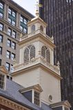 Tower of Old State House in Boston Royalty Free Stock Image