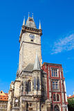 Tower of Old Town City Hall in Prague Stock Image