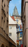 Tower of the Old Town Hall in Prague. Stock Photo
